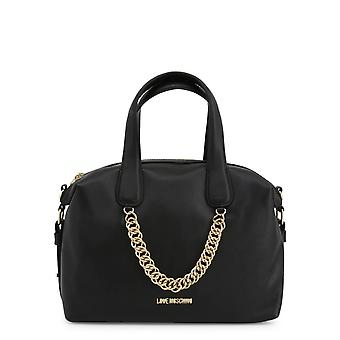 Love Moschino Original Women Fall/Winter Handbag - Black Color 40544