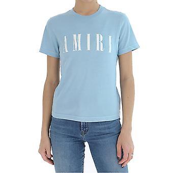 Amiri Y0w03338cjlightblueivory Women's Light Blue Cotton T-shirt