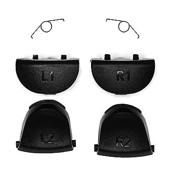 Black Replacement Dualshock 4 Trigger Set | iParts4u