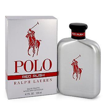 Polo Red Rush Eau De Toilette Spray By Ralph Lauren 4.2 oz Eau De Toilette Spray