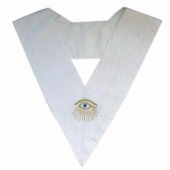 Masonic officer's collar - assr - 28th degree - eye + rays