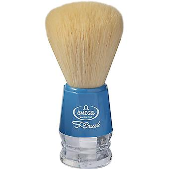 Omega S-Brush Synthetic Shaving Brush Blue 10018