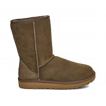 UGG الكلاسيكية قصيرة الثاني السيدات أحذية جلد الغنم أوكالبتوس رذاذ