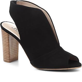 Jones Bootmaker Femmes Annalise Suede Block Heeled Chaussures