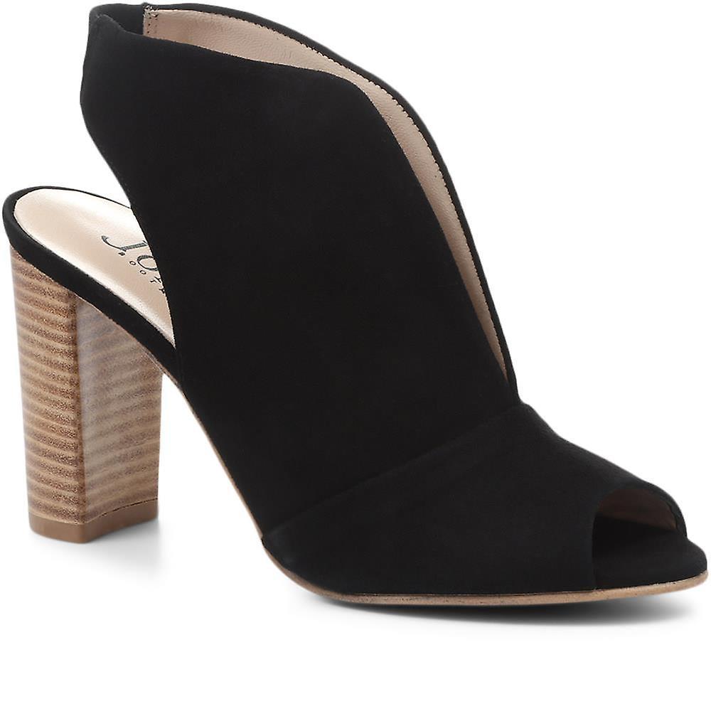 Jones Bootmaker Annalise Suede Block Heeled Shoes bXMxx