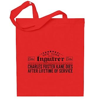 Citizen Kane New York Daily Inquirer Headline Totebag