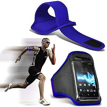 ( Blue ) BLACKVIEW A8 case High Quality Fitted Sports Armbands Cover By i-Tronixs