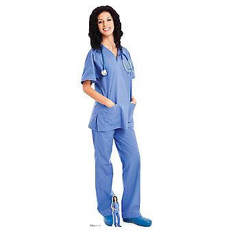 Doctor Nurse Health Worker Female Lifesize Cardboard Cutout / Standee / Standup