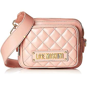 Love Moschino Quilted Nappa Pu Women's Shoulder Bag (Rosa) 9,4 x 20,8 x 24,4 cm (W x H L)