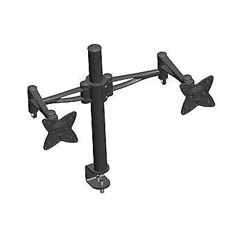 3-Way Adjustable Tilting DUAL Desk Mount Bracket pour 10-23in Moniteurs jusqu'à 33 lb noir par Monoprice