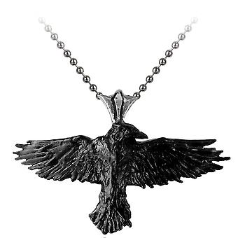 Alchemie Gothic Black Raven Pendant
