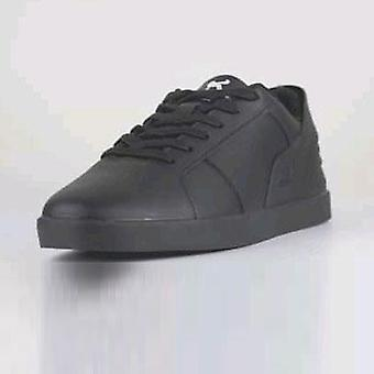 Black men's triesti smart casual trainers
