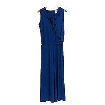 جوان ريفرز الكلاسيكية جمع Petite jumpsuits الكاحل كشكشة الأزرق A303081