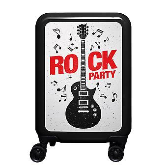 meinTrolley Rockparty S, 4 rollen, 55 cm, 32 L, Zwart