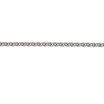 18k White Gold Wheat 1.3mm Spiga Chain Solid Lobster Claw Clasp Necklace Jewelry Gifts for Women - Length: 16 to 30