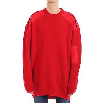 Balenciaga 599485t15546400 Men's Red Wool Sweater