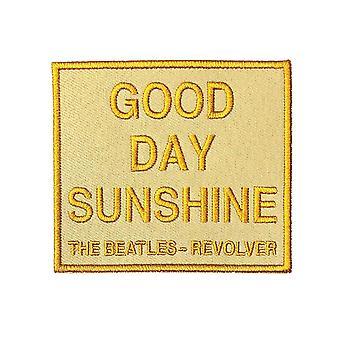 The Beatles patch Good Day Sunshine Revolver virallinen keltainen kirjailtu silitys rauta päälle
