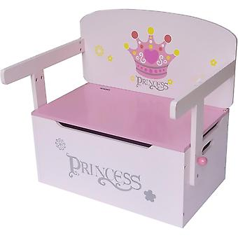 Kiddi Style Princess Convertible Toy Box