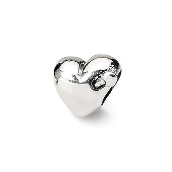 925 Sterling Silver Polished Finish Reflections Kids Love Heart Arrow Bead Charm Pingente Colar Joias De Joias para Wome