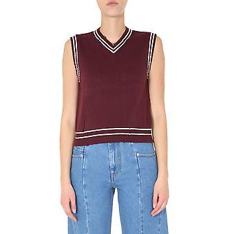 Maison Margiela S29ha0563s17347001f Women's Burgundy Cotton Vest