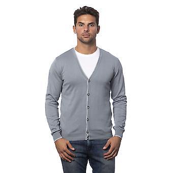 Verri grey cardigan man