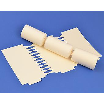 12 Ivory Make & Fill Your Own DIY Recyclable Christmas Cracker Boards