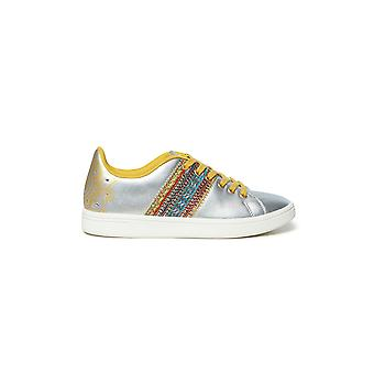 Desigual Cosmic Exotic Moon Sneakers Pumps Silver with Beading