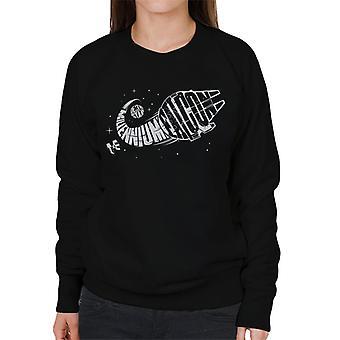 Star Wars Death Star Millennium Falcon Graphic Montage Women's Sweatshirt