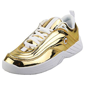 DC Shoes Williams Slim Womens Skate Trainers in Gold