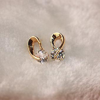 gull vridd krok krystall dråpe øredobber