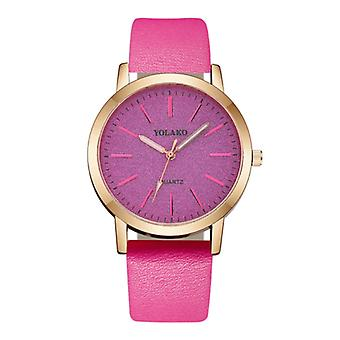 Yolako Quartz Watch Ladies - Anologue Luxury Movement for Women Magenta