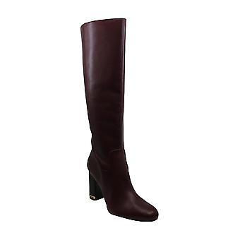 Michael Michael Kors mujeres Walker cuero rodilla-alta botas marrón 11 medio (B...