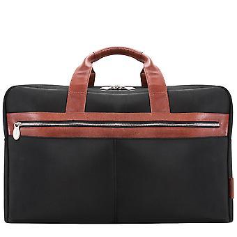 "79115, U Series, Wellington 21"" Nylon, Two-Tone, Dual-Compartment, Laptop & Tablet Carry-All Duffel - Black"