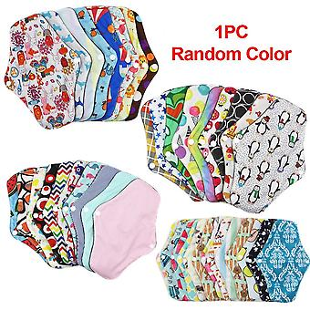Washable Reusable Random Color - Bamboo Cotton Absorbent Menstrual Cloth Pads For Women