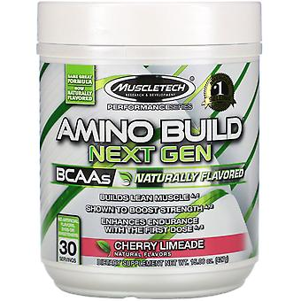Muscletech, Amino Build Next Gen, Naturally Flavored, Cherry Limeade, 15.06 oz (