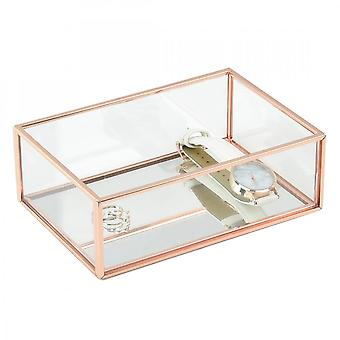 Stackers Mini Glass & Copper Trinket Box