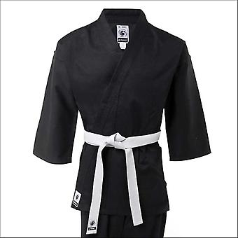 Bytomic adult 100% cotton student black karate uniform