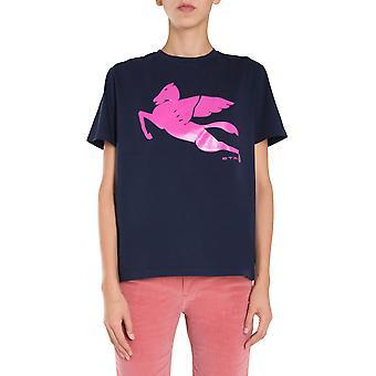 Etro 192409086200 Women''s Blue Cotton T-shirt