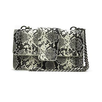 White italia snake print crossbody bag - p07_white 19v69 italia