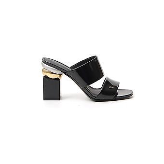 Salvatore Ferragamo 01q516724656 Women's Black Patent Leather Sandals