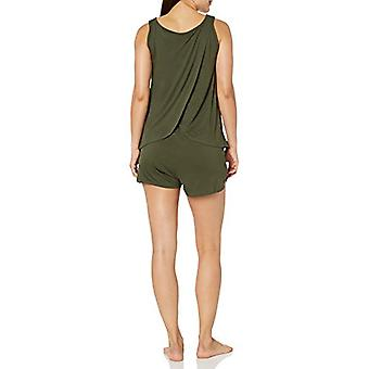 Marque - Mae Women's Sleepwear Sleeveless Split Back Top et Short Paja...