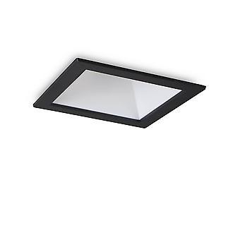 LED 1 valo upotettu Spotlight musta