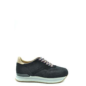 Hogan Ezbc030204 Women's Black Fabric Sneakers