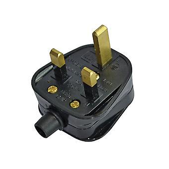 Faithfull Power Plus Black Plug 240 Volt 13 Amp FPPPLUG13R