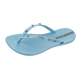Ipanema Wave frappe Womens Flip Flops / Sandals - bleu ciel