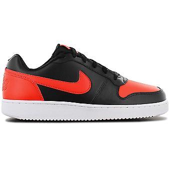 Nike Ebernon Low - Miesten kengät Musta-Punainen AQ1775-004 Lenkkarit Urheilukengät