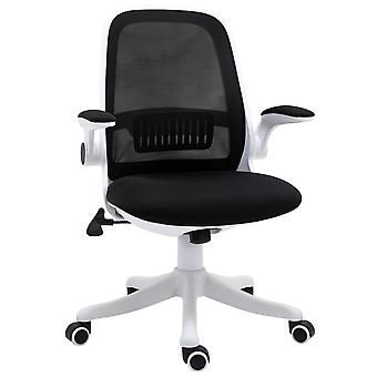 Vinsetto 360° Swivel Office Chair Breathable Fabric Computer Rocker with Liftable Armrest Home Office For 120-175cm/4'-6' Black