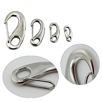 6pcs/lot Egg Shape Spring Snap Hooks Marine- 316 Stainless Steel Multifunctional Hiking Camping Belt Carabiner Quick Release Hook