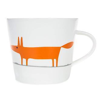 Scion Mr Fox Mug, White & Orange
