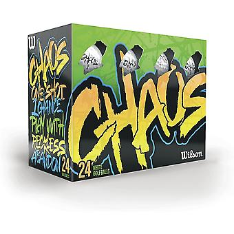 Wilson Chaos Golf Balls (Pack of 24)